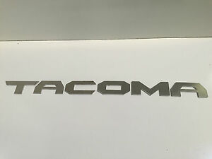 Toyota Tacoma New Logo Letters Aluminum Emblem Decal Badge W 3m Mounting Tape