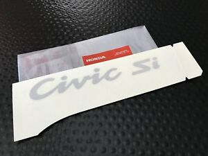 Genuine Oem Honda Eg 92 95 Civic Si Hatchback Rear Silver Civic Si Decal Sticker