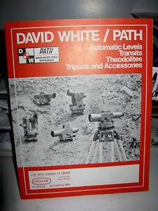 David White Path Surveying Levels Transits Theodolites 6 page Foldout Brochure