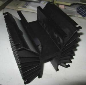 Large Aluminium Heat Sink 6 X 6 X 6 4 Bolt Mount Excellent Condition