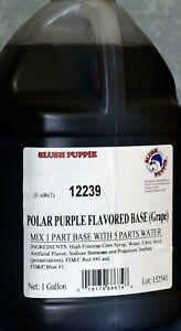 Slush Puppie Grape Flavored Base 2 1 Gallon Case makes 12 Finished Gallons