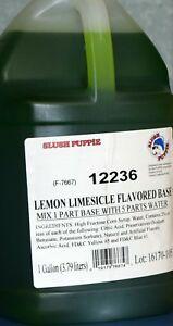 Slush Puppie Lemon Lime Flavored Base2 1 Gallon Case makes 12 Finished Gallons