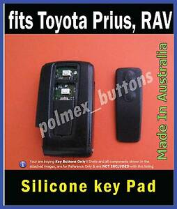 Fits Toyota Prius Verso Rav Remote Key Fob Replacement 2 Buttons Key Pad