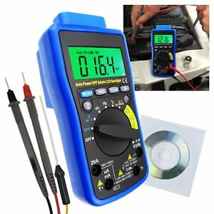 Multimeter Capacitance Resistance Frequency Continuity Test Duty Cycle Tester