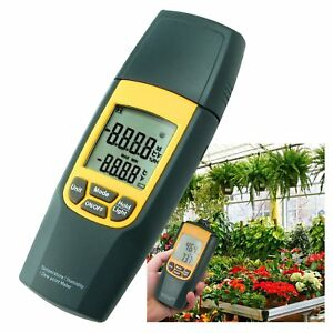 Digital Air Thermometer Dew Point Meter Humidity Greenhouse Temperature Check