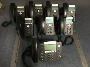 Polycom Phone System Lot ip 335 And 550 Including Handsets Power Supplies