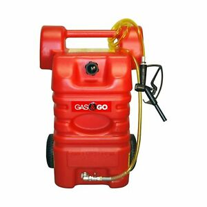 15 Gallon Portable Fuel Gas Tank Jug Container Caddy Transfer Hand Pump Hose