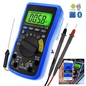 Multimeter Dmm Bluetooth Auto Range Continuity Test W Ios Android Mobile App