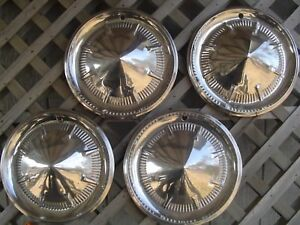 1960 60 Ford Fomoco Galaxie Hubcaps Wheel Covers Cenrer Caps Antique Vintage
