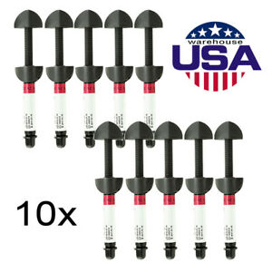 10 Packs Dental A2 Light Cure Micro Composite Syringe Resin Hybrid Shade Usa