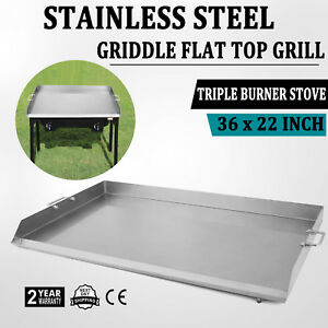 Heavy 36 Inch Stainless Steel Flat Top Griddle Grill For Triple Burner Stove