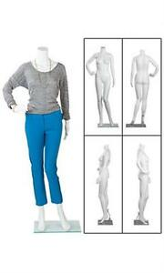 Female Posing Mannequin Base Retail Display Headless Size 6 Height 5 4