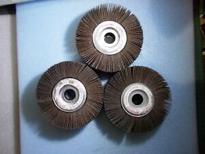 New Abrasive Flap Sanding Wheel 6 Od X 1 Id X 2 Thick 7000 Rpm 60 Grit 3 Pcs