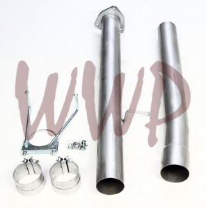 Stainless Race 4 Exhaust Pipes For 13 17 Dodge Cummins 6 7l Turbo Diesel