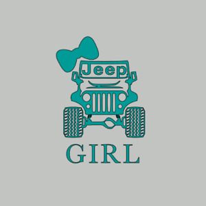 Jeep Girl Jeep Life Decal Sticker Car Window Truck Laptop Decal Sticker