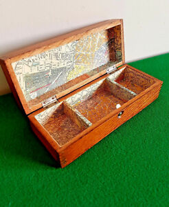 Vintage Oak Trinket Box By Wheeler Wilson Sewing Machines