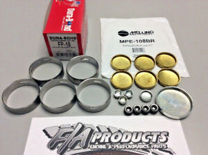 Ford 289 302 351w Dura bond Fp18 Hp Cam Bearings Melling Mpe 108br Brass Plugs
