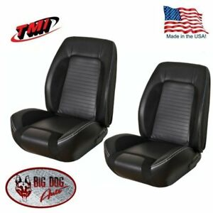 Sport R Front Rear Upholstery For 1969 Camaro Coupe W Folding Rear Seat Tmi