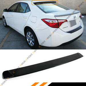 For 2014 2019 Toyota Corolla Jdm Glossy Blk Rear Window Roof Spoiler Visor Wing