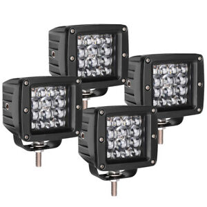 4x Round 5inch 60w Led Driving Lights Amber White Truck Jeep 3x3 Pods Offroad 4