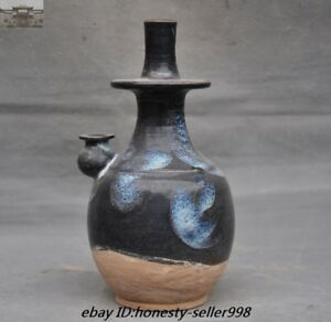 8 Chinese Tang Dynasty Jun Kiln Old Porcelain Glaze Teatot Bottle Jar Vase Pot