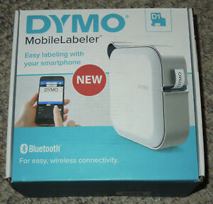 Dymo Mobile Label Maker Print Bluetooth Smartphone Tablet Rechargeable Battery