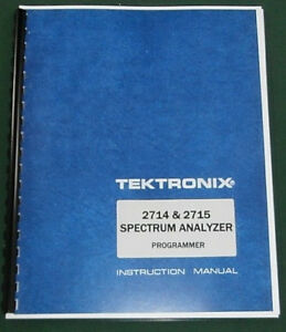 Tektronix 2714 2715 Programmer Manual Comb Bound Plastic Protective Covers