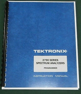 Tektronix 2790 Programmers Manual Comb Bound Protective Covers
