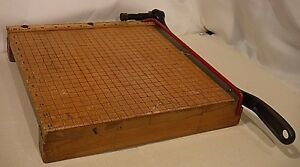 Vtg Ingento No 4 Guillotine Paper Cutter Trimmer 12x12 Ideal School Supply