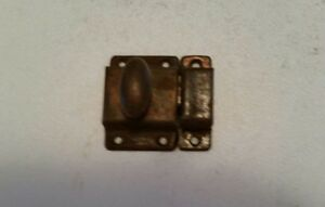 Old Vintage Metal Cabinet Cupboard Latch With Turn Knob And Catch 236h