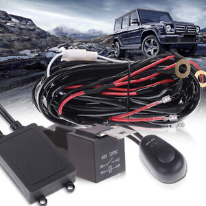Off Road Led Light Bar 2 Lead Wiring Harness Kit Relay On Off Switch Fog Lights