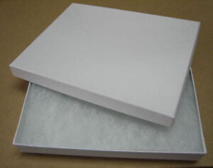 Jewelry Gift Boxes 500 75 White Swirl Cotton Filled Lidded Lid 7 X 5 X 1