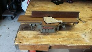 Vintage Delta Milwaukee 4 In Cast Iron Percicion Jointer Woodworking Tool Old
