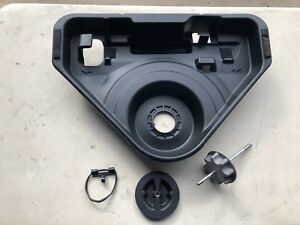 Oem 07 11 Toyota Camry Hybrid Spare Tire Jack Storage Tray W hold Downs