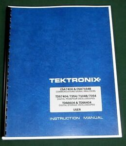 Tektronix Csa7404 Tds7404 Tds6604 User Manual Comb Bound Plastic Covers