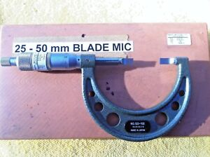 Mitutoyo 1 2 25 50mm Outside Blade Micrometer Blm 50 122 102