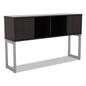 Alera Open Office Desk Series Hutch Espresso alelshh60es