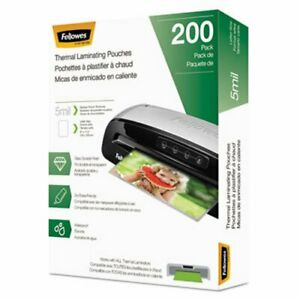 Fellowes Laminating Pouches Hot Pouch 9 X 11 5 5 Mil 200 Pack fel5743601
