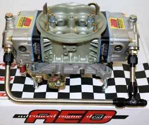 Holley 750 Hp Double Pumper Carburetor By Aed With Fuel Line Kit