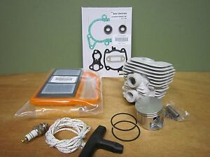 Stihl Ts420 Rebuild Kit W Cylinder Piston Air Filter Gaskets Rope Belt