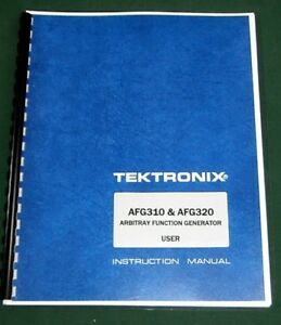 Tektronix Afg310 Afg320 User Manual Comb Bound Protective Covers