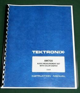 Tektronix Am700 User Manual Comb Bound Protective Covers