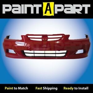 Fits 2001 2002 Honda Accord Coupe Front Bumper Painted R94 San Marino Red