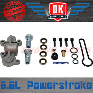 Ford 6 0l Powerstroke Fuel Pressure Regulator Blue Spring Upgrade Kit With Banjo