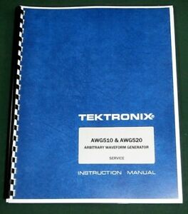 Tektronix Awg510 Awg520 Service Manual Comb Bound Protective Plastic Covers