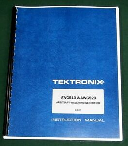 Tektronix Awg510 Awg520 User Manual Comb Bound Protective Plastic Covers