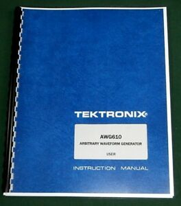 Tektronix Awg610 User Manual Comb Bound Protective Plastic Covers
