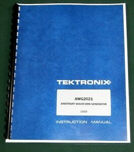 Tektronix Awg2021 User Manual Comb Bound Protective Covers