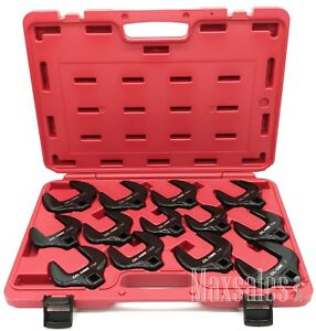 13 Pc 1 2 Dr Chrome Molybdenum Cr mo Jumbo Crowfoot Wrench Set Sae Metric