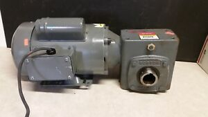 Red Devil 1 Hp 115 230v Ycn5674h Electric Motor W Boston Gear Reducer 25 1 Ns5
